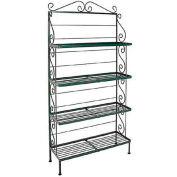 "Standard Four Shelf Rack - With Brass Tips 36""W (Deep Red)"