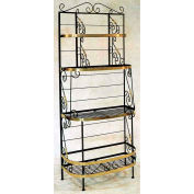 """French Bow Rack - With Brass Tips 36""""W (Burnished Copper)"""