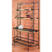 """French Bow Rack - With Brass Trim & Tips 48""""W (Burnished Copper)"""