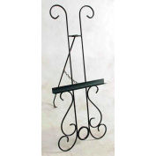 """Easel, Wrought Iron - New Orleans Style 25""""W (Satin Black)"""