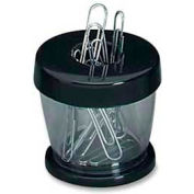 GEM® Magnetic Paper Clip Dispenser, Black/Clear, 1 Each