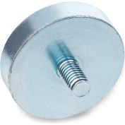 """J.W. Winco 50.3-HF-13-M3 Retaining Magnet Assembly Disc-Shaped w/ Threaded Stud - .51"""" Dia, Steel"""
