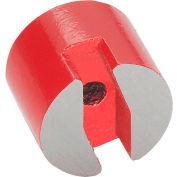 "J.W. Winco 60-AN-13 Button-Type Magnet w/ Thru Hole - .51"" Diameter, Steel"