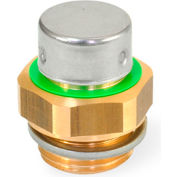 """Brass Breather Valve with G 1/2"""" Pipe Thread - J.W. Winco 881-G1/2-200-MS-M"""