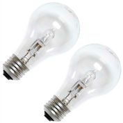 GE 78796 Halogen Bulb A-19 Medium Screw, 750 Lumens, 43W, 120V, Clear, 2-Pack