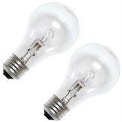 GE 78796 Halogen Bulb A-19 Medium Screw, 750 Lumens, 43W, 120V, Clear, 2-Pack