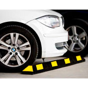 """GNR® Park It® Black with Yellow Stripes Parking Curb - 36""""L"""
