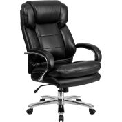 Flash Furniture 24 Hour Big and Tall Leather Executive Chair - Black - Hercules Series