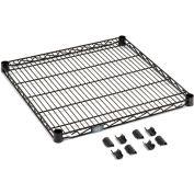 """Nexel S1830B Black Epoxy Wire Shelf 30""""W x 18""""D with Clips"""