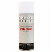 Color Décor Decorative Enamel Spray 10 oz. Aerosol Can, White, Satin - 115397