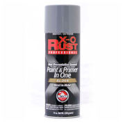 X-O Rust 12 oz. Aerosol Rust Preventative Paint & Primer In One, Machinery Gray, Gloss - 125734