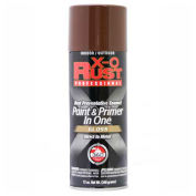 X-O Rust 12 oz. Aerosol Rust Preventative Paint & Primer In One, Seal Brown, Gloss - 125738