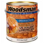 Woodsman Clear 100% Acrylic Latex Wood Sealer & Protector, Toned, Gallon - 149323