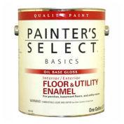 Painter's Select Basics Floor & Utility Enamel, Gloss Finish, Black, Gallon - 151305