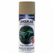 Premium Décor Camouflage Enamel 12 oz. Aerosol Can, Light Khaki, Flat - 171310