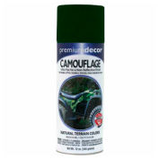 Premium Décor Camouflage Enamel 12 oz. Aerosol Can, Forest Green, Flat - 171311