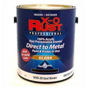 X-O Rust Anti-Rust Enamel, Gloss Finish, Seal Brown, Gallon - 176837