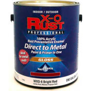 X-O Rust Anti-Rust Enamel, Gloss Finish, Bright Red, Gallon - 176842