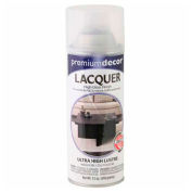 Premium Décor Decorative Lacquer Enamel Spray 12 oz. Aerosol Can, Clear, Lacquer - 204131