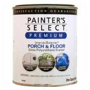 Painter's Select Porch & Floor Coating, Polyurethane Oil, Gloss Finish, Light Gray, Quart - 209114