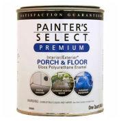 Painter's Select Porch & Floor Coating, Polyurethane Oil, Gloss Finish, Medium Gray, Quart - 209304