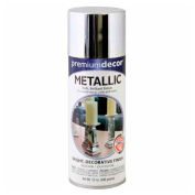 Premium Décor Decorative Metallic Spray 12 oz. Aerosol Can, Chrome, Metallic - 329276