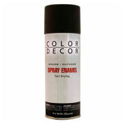 Color Décor Decorative Enamel Spray 10 oz. Aerosol Can, Wrought Iron Black, Gloss - 342915