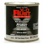 X-O Rust Oil Base Primer, Red Metal Primer, 1/2-Pint - 362400