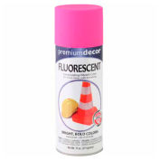Premium Décor Fluorescent Fast Drying Enamel 12 oz. Aerosol Can, Electric Pink, Flat - 366138