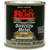 X-O Rust Oil Base DTM Enamel, Gloss Finish, Almond, 1/2-Pint - 527036