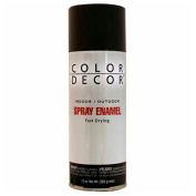 Color Décor Decorative Enamel Spray 10 oz. Aerosol Can, Black, Gloss - 527770