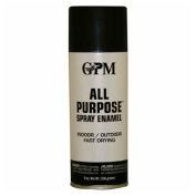 GPM All Purpose Fast Drying Flat Enamel 10 oz. Aerosol Can, Black - 542645