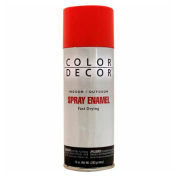 Color Décor Decorative Enamel Spray 10 oz. Aerosol Can, Bright Red, Gloss - 579626
