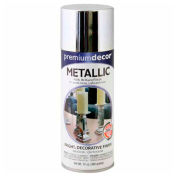 Premium Décor Decorative Metallic Spray 12 oz. Aerosol Can, Silver, Metallic - 793304