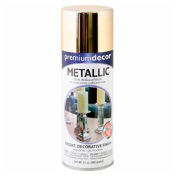Premium Décor Decorative Metallic Spray 12 oz. Aerosol Can, Gold, Metallic - 793312