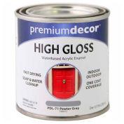 Premium Décor Waterborne Acrylic Enamel, Gloss Finish, Pewter Gray, 1/2 Pint - 796915