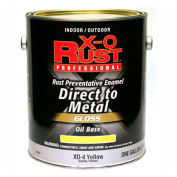 X-O Rust Oil Base DTM Enamel, Gloss Finish, Safety Yellow, Gallon - 802041