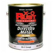 X-O Rust Oil Base DTM Enamel, Gloss Finish, Orange, Gallon - 802702
