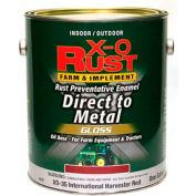 X-O Rust Brush-On Enamel, Gloss, Regal Red, Matches International Harvester Red, Gallon - 802827