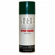 Color Décor Decorative Enamel Spray 10 oz. Aerosol Can, Hunter Green, Gloss - 856255