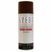 Color Décor Decorative Enamel Spray 10 oz. Aerosol Can, Brown, Gloss - 895680