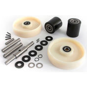 GPS Complete Wheel Kit for Manual Pallet Jack GWK-PTH-CK - Fits Crown, Model # Older PTH & PTH