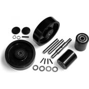 GPS Complete Wheel Kit for Manual Pallet Jack GWK-PTH50-CK - Fits Crown Model # PTH50 (Newer)
