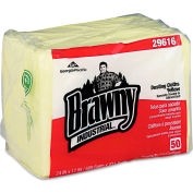 """Brawny Industrial 1/4 Fold Dusting Cloths 17"""" x 24"""", Yellow 50 Wipes Pack 4/Case - GEP29616"""