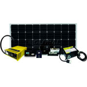 160 WATT/9.14 AMP SOLAR KIT WITH GP-SW1500-12, GP-SW-REMOTE, GP-DC-KIT-3, GP-TS