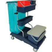 Ideabase Modular Cart Base Unit W/ 1 Flat Mop Bucket & Lid