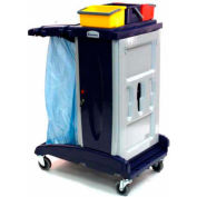 Modular Plastic Cart - Base Unit W/O Front Extension Tray W/ 3 Top Buckets