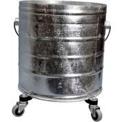 "Geerpres® 8 Gallon Galvanized Steel Mop Bucket on 2"" Casters, Geerpres 2023"