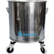"""Geerpres® 8 Gallon Stainless Steel Mop Bucket on 3"""" Casters, Geerpres 2222"""