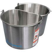 Geerpres® 2250 Half Round 5 Gallon Stainless Steel Buckets